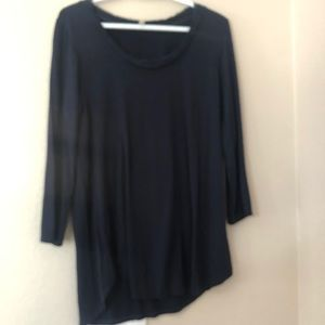 Anthropologie top xl navy blue
